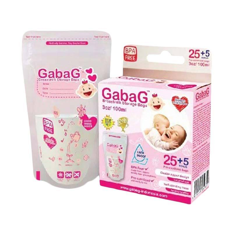 Gabag Breastmilk Storage Bag Pink 100 mL