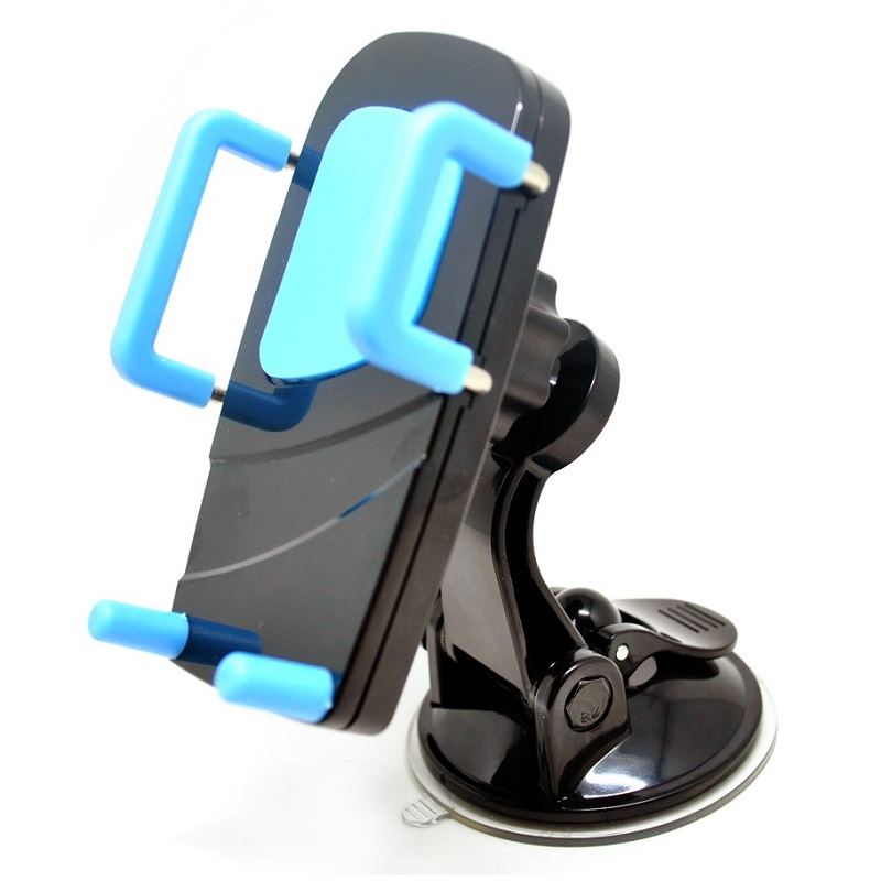 2 In 1 Car Universal Holder With Windshield And Air Vent Mount Black Blue