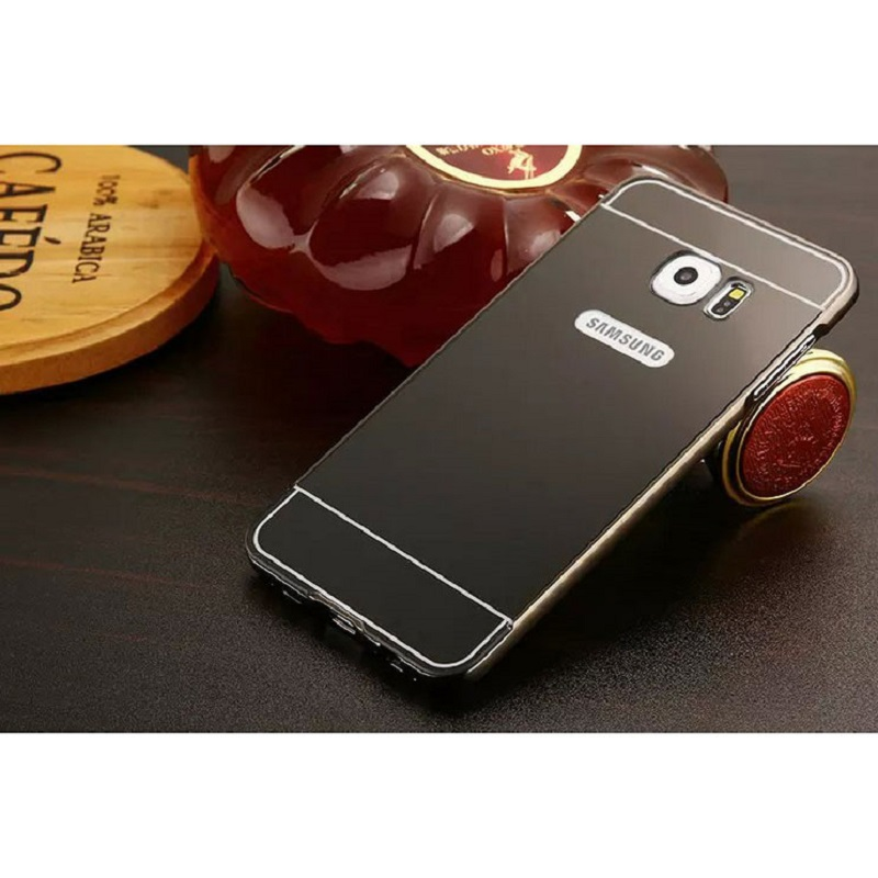 Aluminium Bumper Hardcase With Mirror Back Cover For Samsung Galaxy S7 Edge