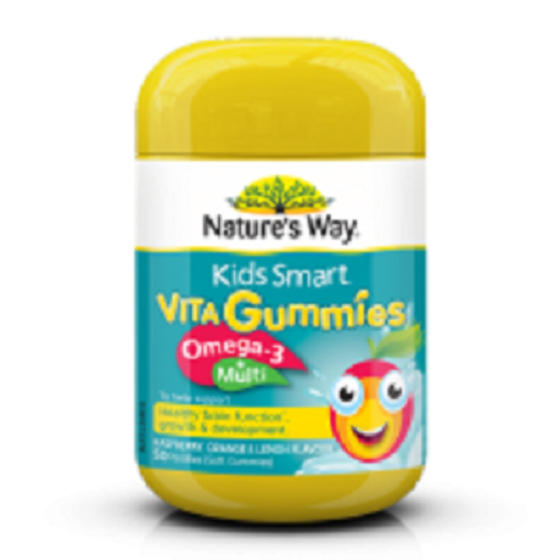 Nature's Way Kids Smart Vita Gummies Omega 3 + Multi - 50 pastilles
