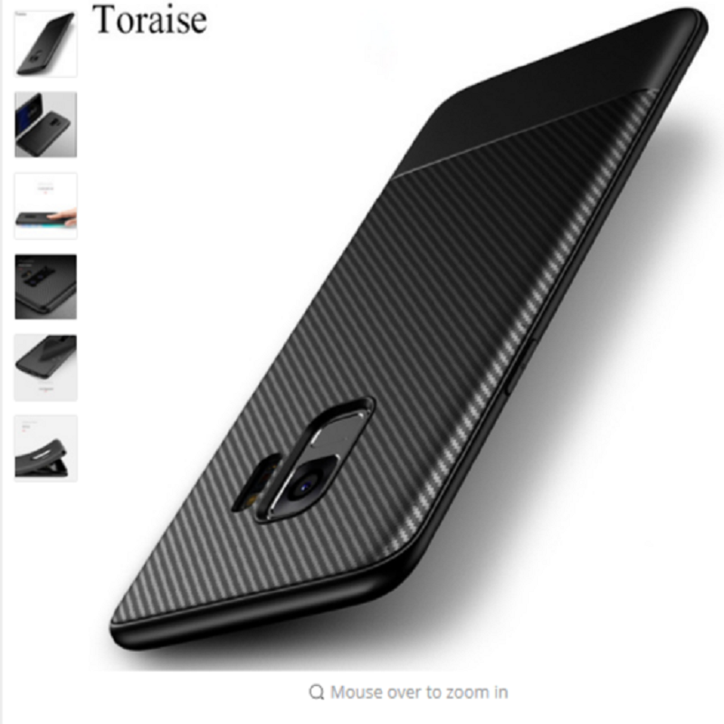 SOFTCASE PREMIUM SILICONE BLACK CARBON FOR SAMSUNG S8/S8+/S9/S9+/NOTE8