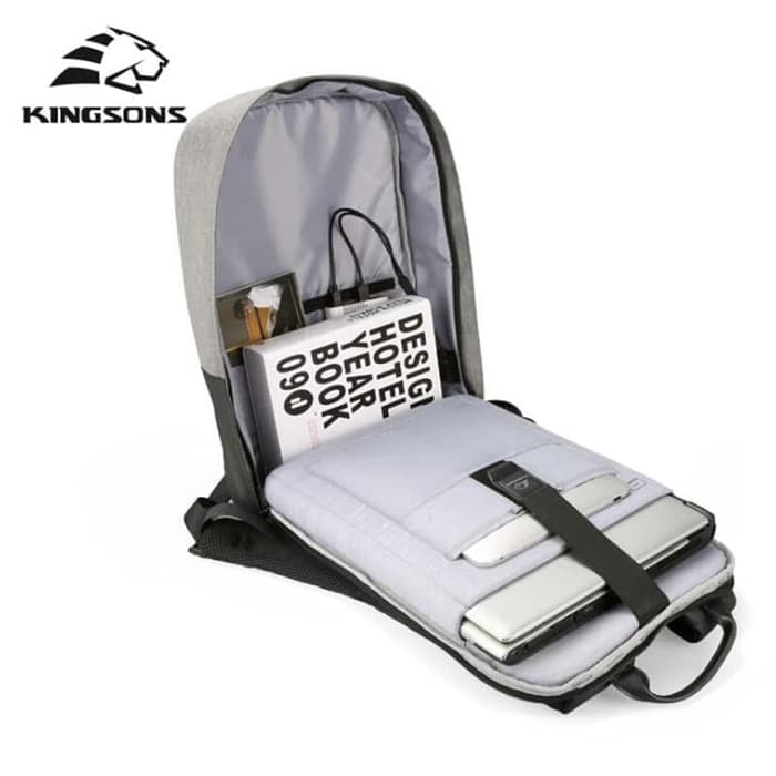 KINGSONS HIGH QUALITY NYLON WATERPROOF LAPTOP BACKPACK UP TO 15.6 INCH