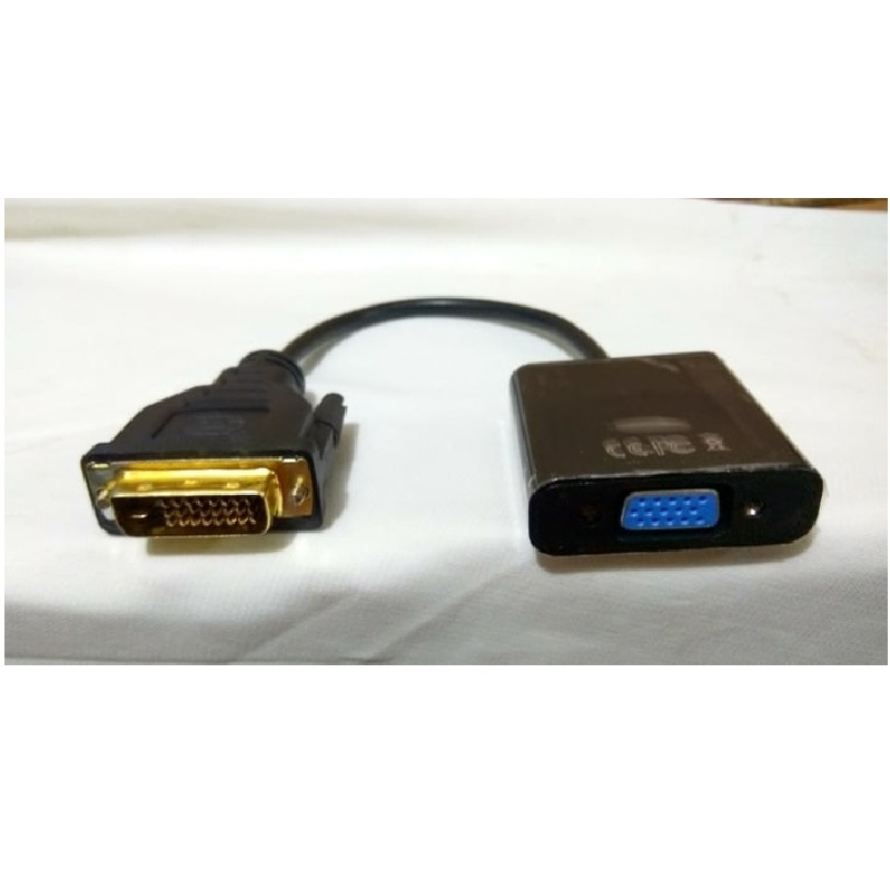Active Adapter Dvi D 24+1 Dual Link Male To Vga Female