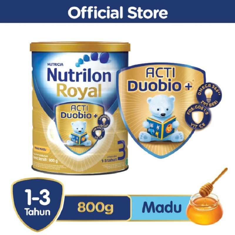 Nutrilon Royal 3 Acti DuoBio Madu 800gr Tin