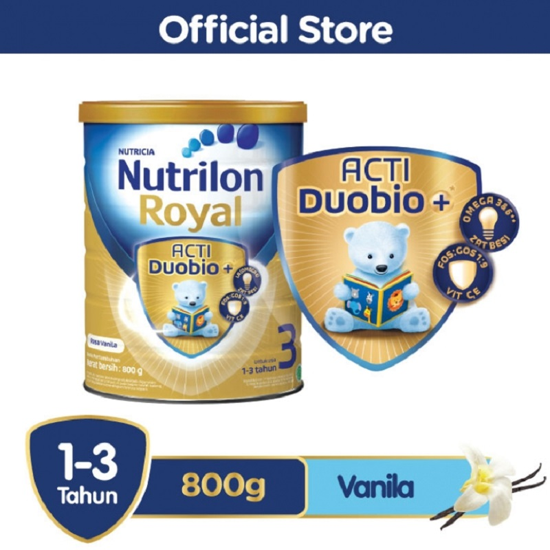 Nutrilon Royal 3 Acti DuoBio Vanila 800gr Tin