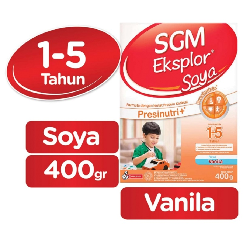 SGM Eksplor Soya Vanila 400gr Box (1-5th)