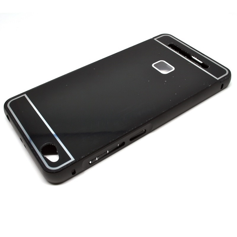 Aluminium Bumper Case with Arcylic Back for Xiaomi Redmi 3 - Black