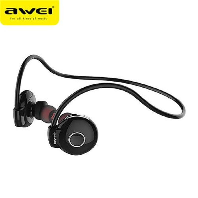AWEI Bluetooth Earphone Headset - A845BL - Black