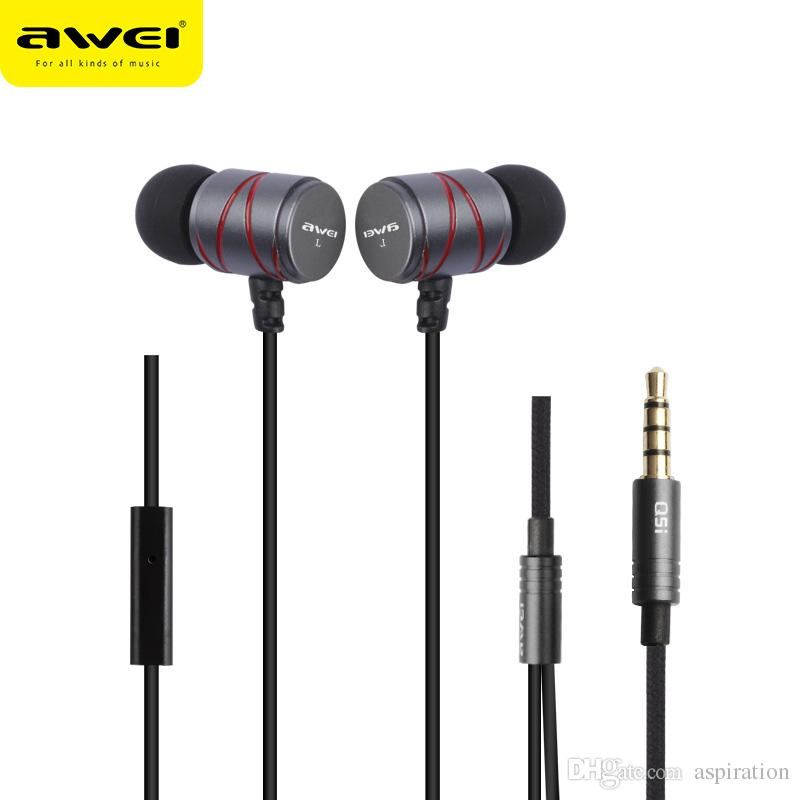Awei Earphone Noise-Isolating with Mic - ES-50TY - Black