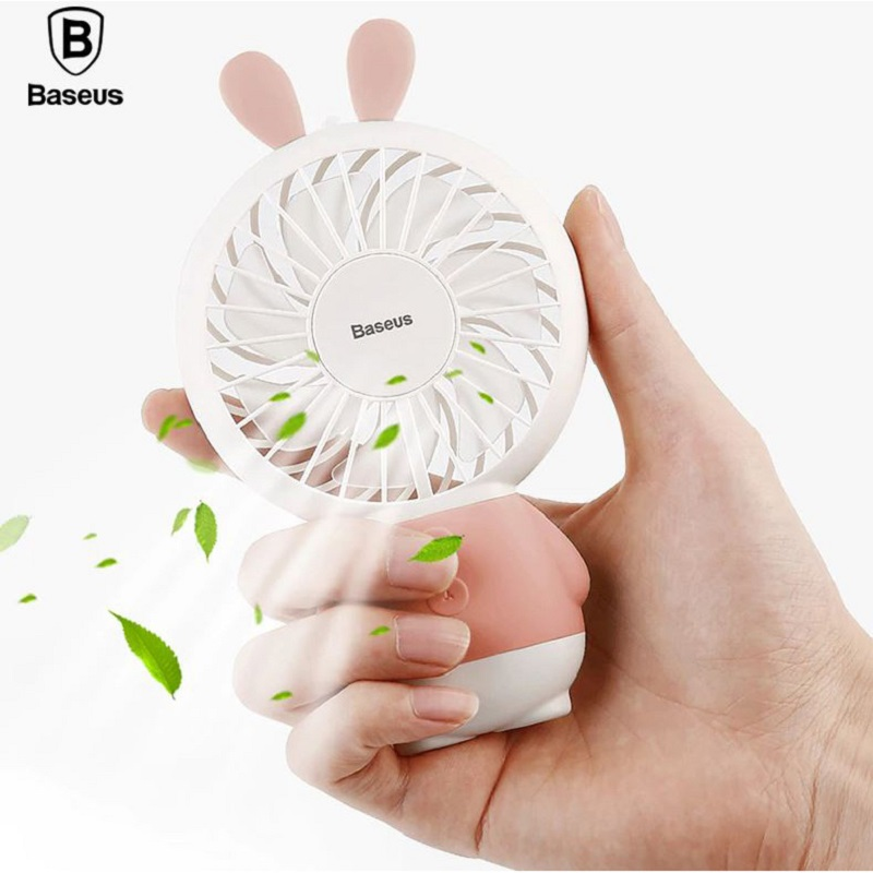 Baseus Kipas Angin Mini CXRAB USB Rechargeable Fan Portable - CXRAB - Pink