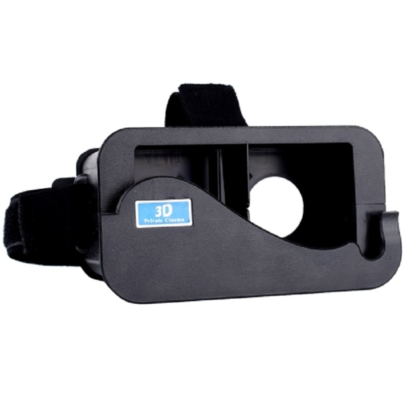 DIY Plastic Cardboard Head Mount Virtual Reality for iPhone 5/5s/5c/SE - Black