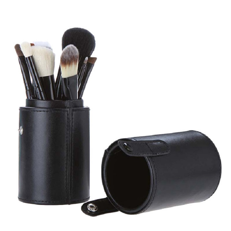 Kuas Make Up 12 Set dengan Case - MAG5171 - Black