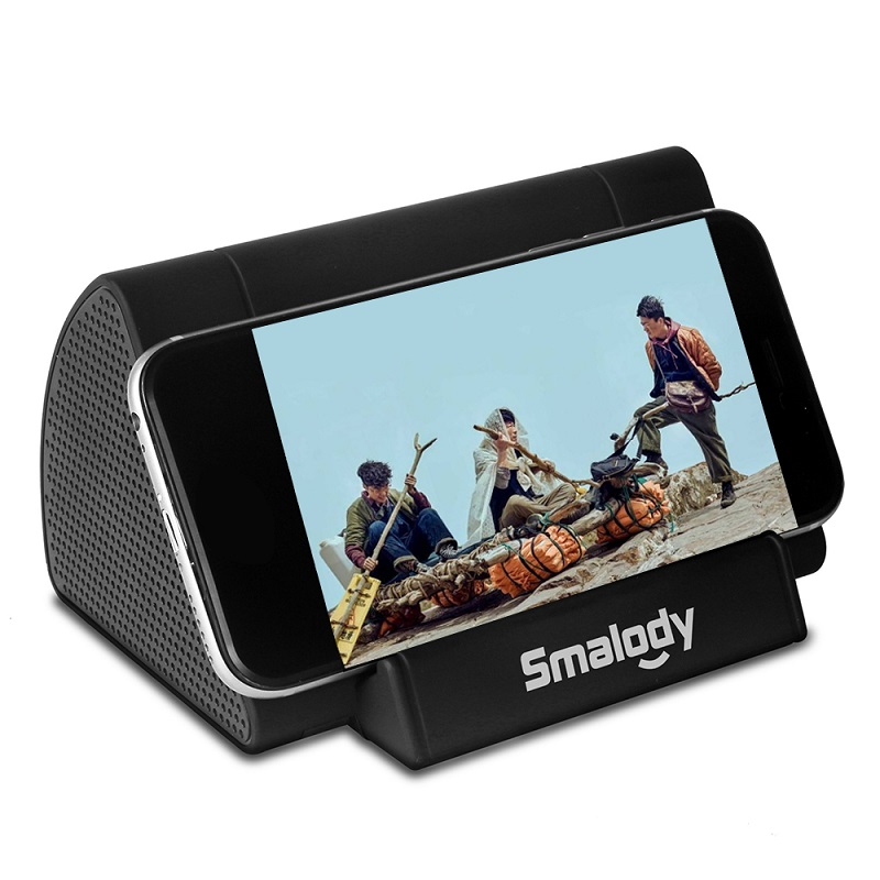 Smalody Wireless Portable Speaker Amplifier with Smartphone Stand - SL-30 - Black