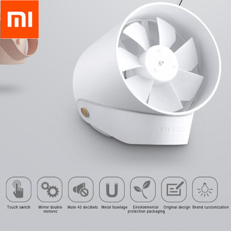 Xiaomi Mijia VH Kipas Angin USB Double Leaf Blade Silent Fan - Black